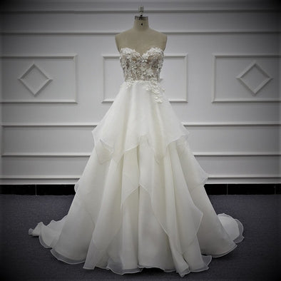 Wedding Dresses & Bridal Gowns | Floral Wedding Dress | Bridal Gown Sleeveless | Custom Designed | WENDY