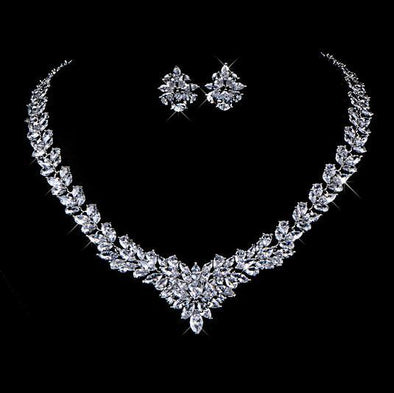 Cubic Zirconium jewelry Set | Bridal Wedding Jewelry set