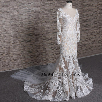 Long sleeves Wedding Dress |  Lace wedding dress | LIA