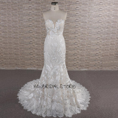 Sheath Wedding dress | Trumpet Bridal Gown | KARLEY