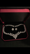 Cubic Zirconium jewelry Set, Bridal Wedding Jewelry set, Bridal necklace set