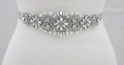 Crystal Rhinestone Bridal Belt - ANNA