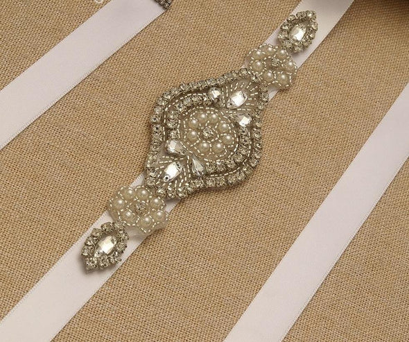 Rhinestone Bridal Belt - ROSE
