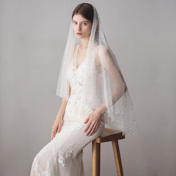 STAR EMBELLISHED VEIL | STAR SEQUINED VEIL | ARIES