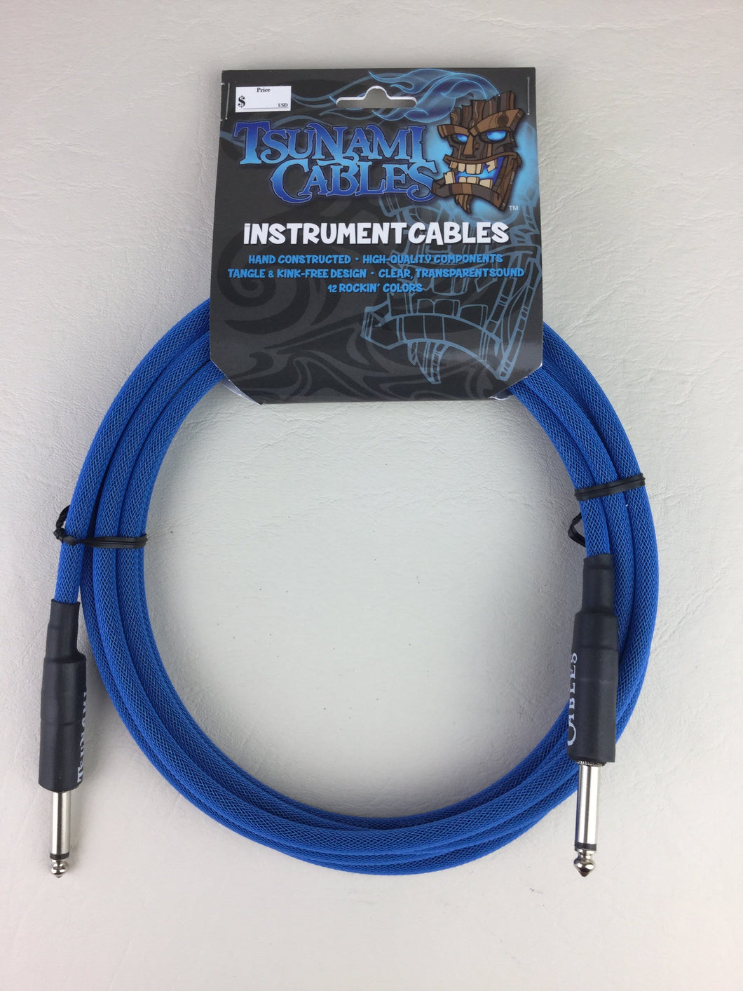 Tsunami Cables - 10ft Straight/Straight Instrument Cable - TC Blue