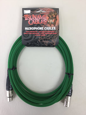 Tsunami Cables - 15ft XLRM/XLRF Microphone Cable - Ogre