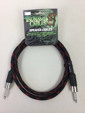 Tsunami Cables - 5ft Speaker Cable - Black Widow