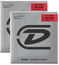Load image into Gallery viewer, Dunlop Marcus Miller Super Bright™ Bass Strings SET/4 - 45-105 - 2 Pack Free Shipping!