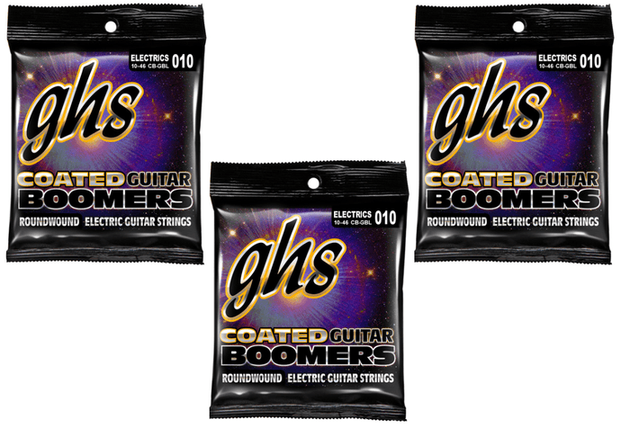 GHS Coated Boomers Light Strings 10-46 - 3 Pack + Free Shipping!