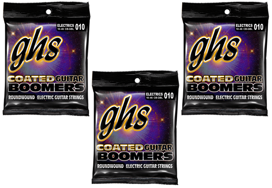 GHS Coated Boomers Light Strings 10-46 - 3 Pack