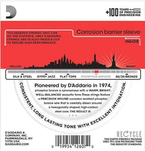 Load image into Gallery viewer, D'Addario EJ17 Phosphor Bronze Acoustic Guitar Strings - Medium 13-56 (3 Pack) - Tensolo Music Co.