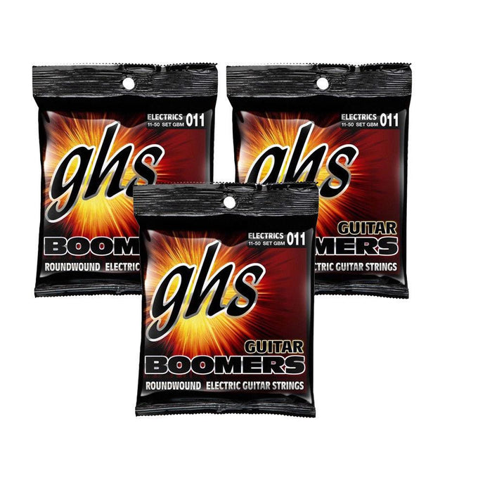 GHS Boomers Medium Strings 11-50 - 3 Pack + Free Shipping!