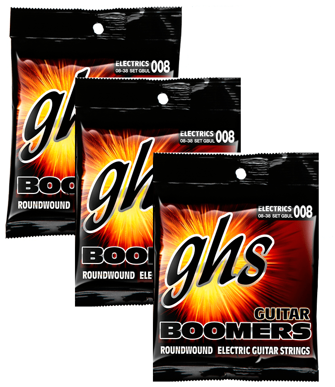 GHS Boomers Ultra Light Strings 8-38 - 3 Pack