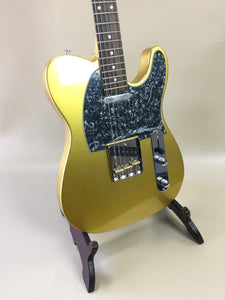 Atsah Guitars Model T Gold Metallic (w/ padded Atsah gig-bag)
