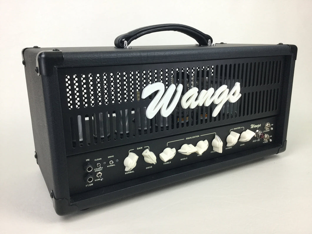 Wangs HD-15 - High Gain 3-channel 15W All Tube Amplifier Head (w/ foot-switch)