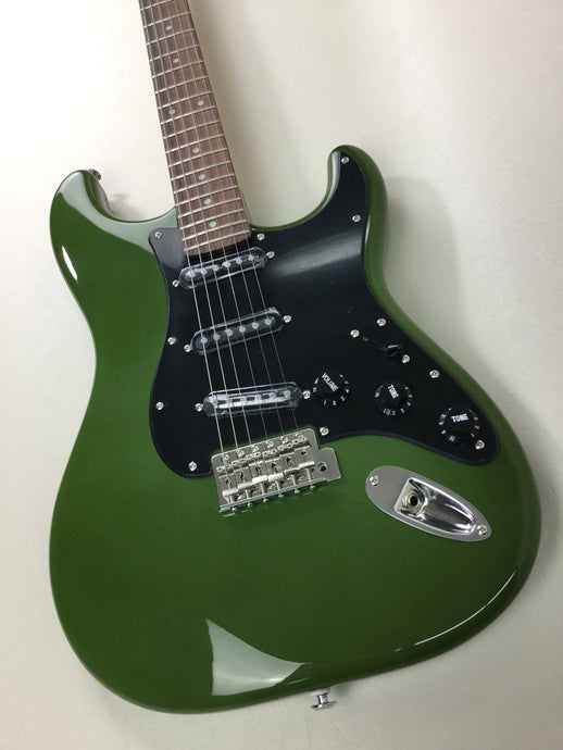 Atsah Guitars Model S Forest Green (w/ padded Atsah gig-bag)