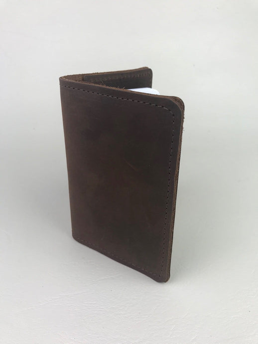 Long Hollow Leather - Notepad holder / Passport holder