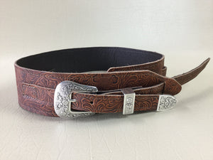 "Long Hollow Leather -  2.5"" Old West Strap with Buckle Set"