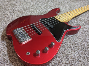 Vola ZV5 Bass MF Ash 5-string Candy Apple Red (w/ Vola Deluxe Gig Bag) - Show Model - Tensolo Music Co.