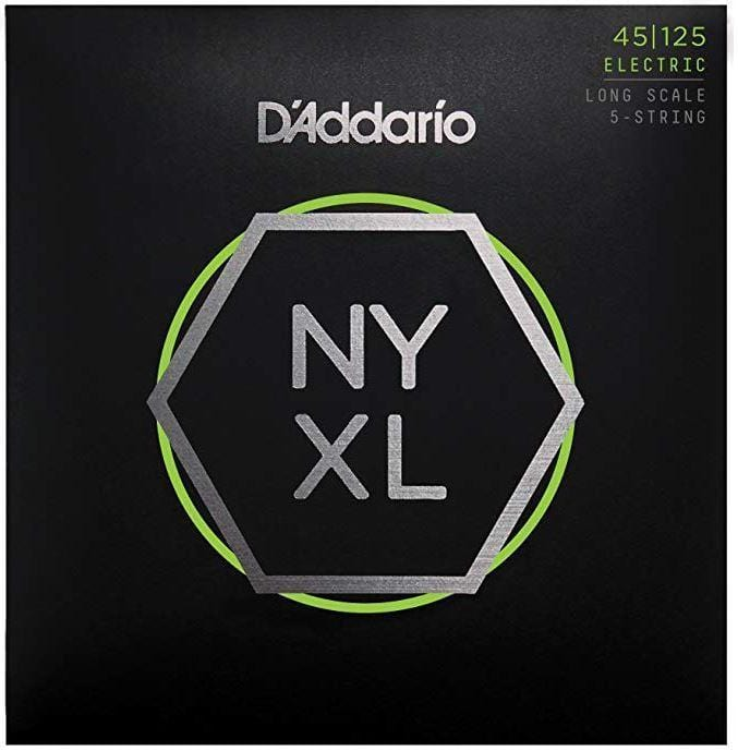 D'Addario NYXL45100 Electric Bass Strings - Regular Light 45-100 Long Scale - Tensolo Music Co.