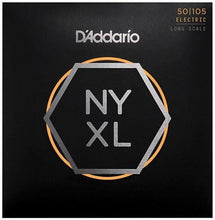 Laden Sie das Bild in den Galerie-Viewer, D'Addario NYXL50105 Electric Bass Strings - Medium 50-105 Long Scale - Tensolo Music Co.