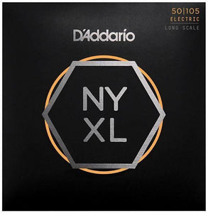 D'Addario NYXL50105 Electric Bass Strings - Medium 50-105 Long Scale - Tensolo Music Co.