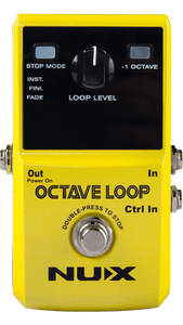 NUX Octave Loop Looper Pedal with -1 Octave Effect