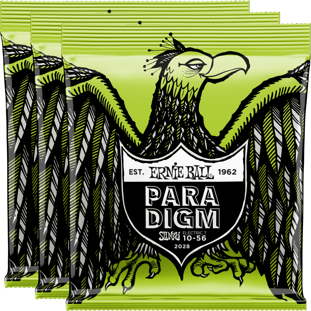 Ernie Ball Paradigm 7-String Regular Slinky Strings 10-56 - 3 Pack