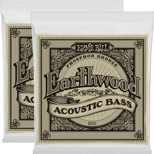 Ernie Ball Earthwood Phosphor Bronze Acoustic Bass Strings (45-95) 2 Pack