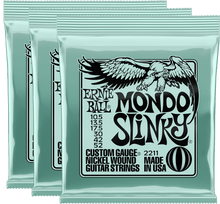 Load image into Gallery viewer, Ernie Ball Mondo Slinky Nickel Wound Electric Guitar Strings (10.5-52) 3 Pack