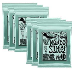Ernie Ball Mondo Slinky Nickel Wound Electric Guitar Strings (10.5-52) 3 or 6 Pack - Tensolo Music Co.