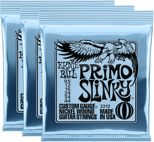 Ernie Ball Primo Slinky Nickel Wound Electric Guitar Strings (10.5-52) 3 Pack