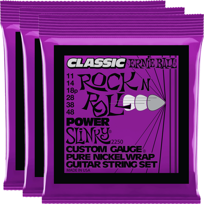Ernie Ball Power Slinky Classic RNR Pure Nickel Electric 11-48 - 3 Pack