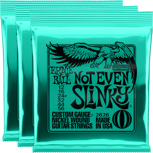 Ernie Ball Not Even Slinky Nickel Wound Strings (12-56) 3 Pack