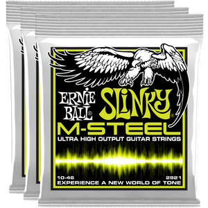 Ernie Ball Regular Slinky M-Steel Electric Guitar Strings (10-46)