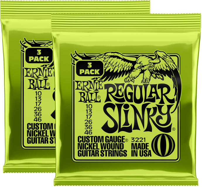 Ernie Ball Regular Slinky Nickel Wound Strings (10-46) 3 Pack