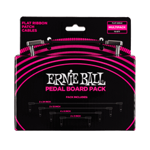 Load image into Gallery viewer, Ernie Ball Flat Ribbon Patch Cables Pedalboard Multi-Pack P06224