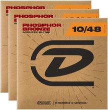 Laden Sie das Bild in den Galerie-Viewer, Dunlop Strings - Phos Bronze Extra Light 10-48 (3 Pack) - Tensolo Music Co.
