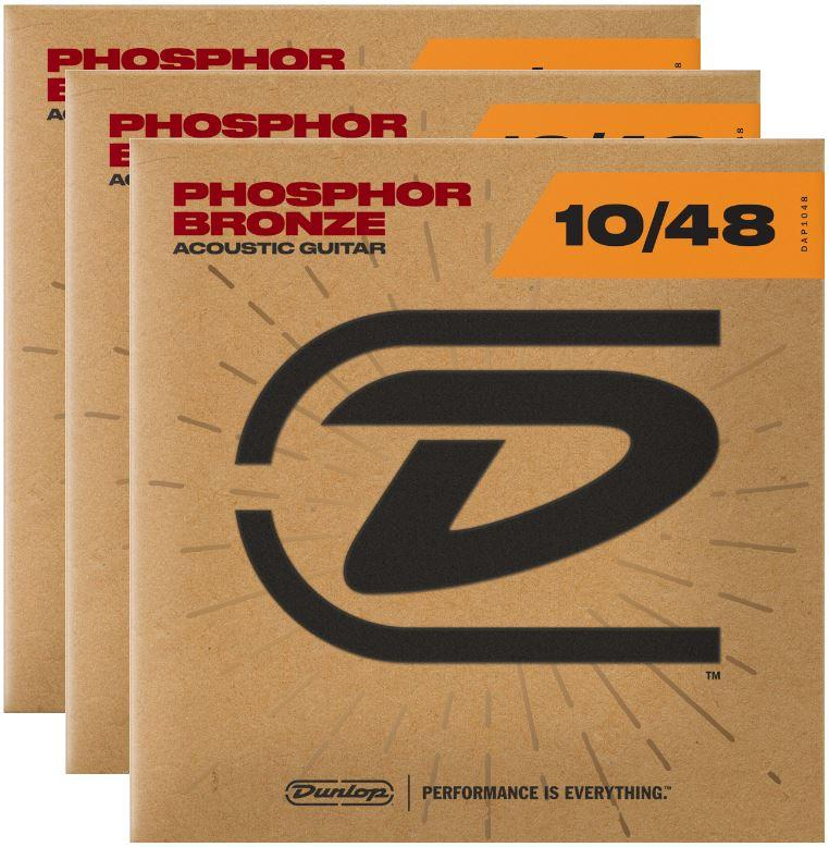 Dunlop Strings - Phos Bronze Extra Light 10-48 (3 Pack) - Tensolo Music Co.