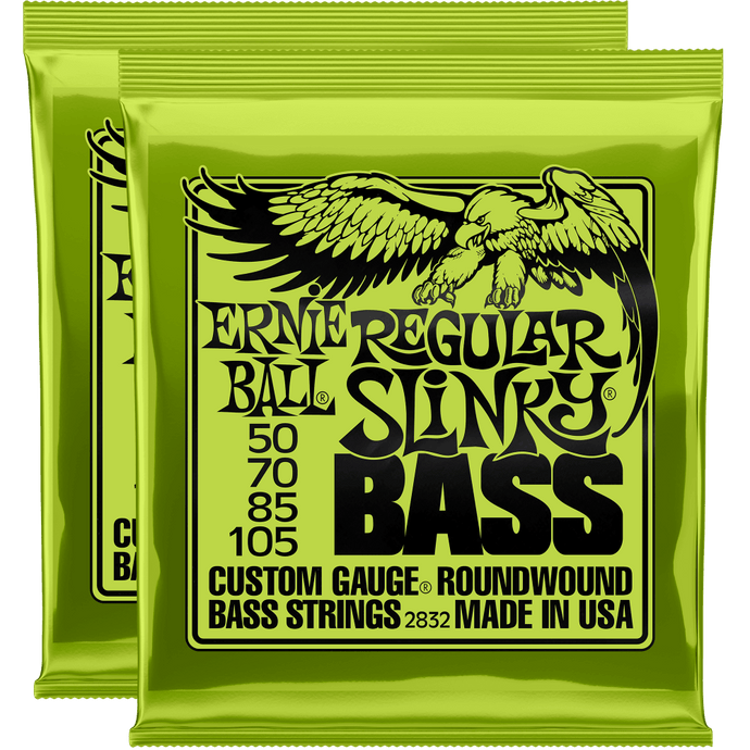 Ernie Ball Regular Slinky Nickel Wound Bass Strings (50-105) 2 Pack