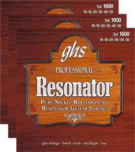 GHS Pure Nickel Rollerwound Resonator (1600) 3 Pack