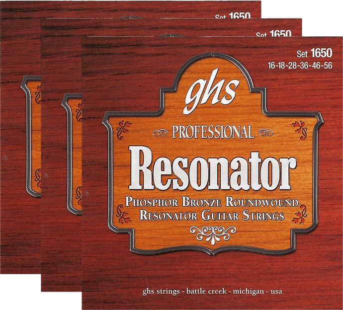 GHS Phosphor Bronze Resonator (1650) 3 Pack