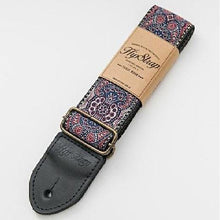 Load image into Gallery viewer, HipStrap - Kashmir Midnight Handmade Guitar and Bass Strap