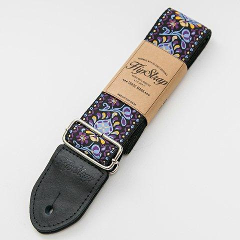 HipStrap Purple Haze Vintage Style Guitar Strap + Free Shipping