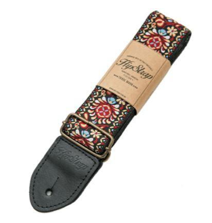 HipStrap Red Haze Vintage Style Guitar Strap - Tensolo Music Co.