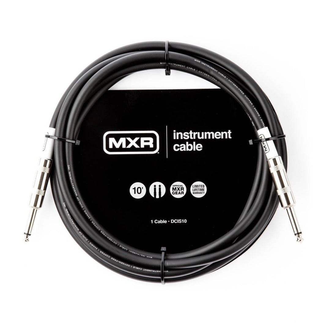 MXR Standard Instrument Cable - 10' Straight/Straight - Tensolo Music Co.