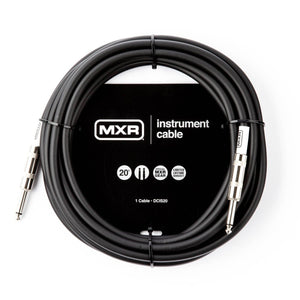 MXR Standard Instrument Cable - 20' Straight/Straight - Tensolo Music Co.