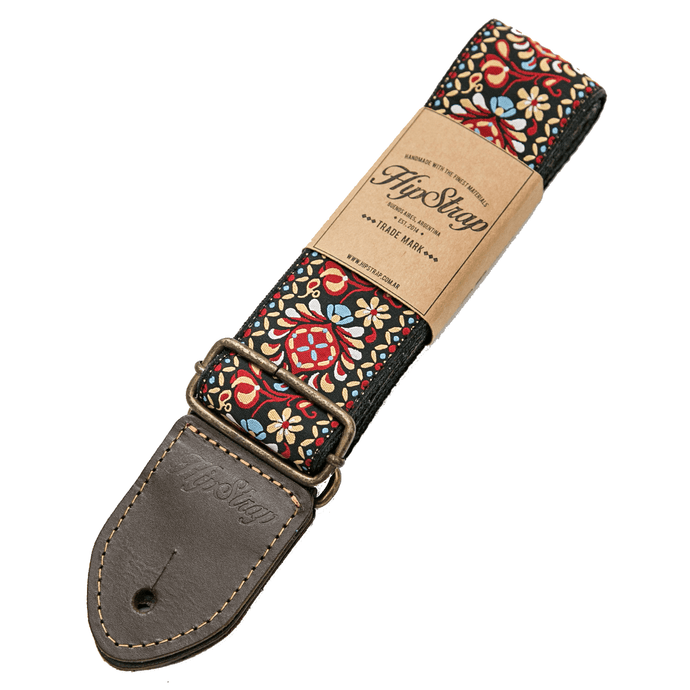 HipStrap Red Haze Vintage Style Guitar Strap + Free Shipping