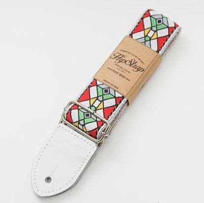 HipStrap Stained Glass Red Vintage Style Guitar Strap