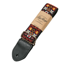 Laden Sie das Bild in den Galerie-Viewer, HipStrap Woodstock Red Vintage Style Guitar Strap - Tensolo Music Co.